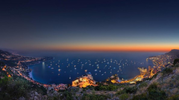 Sunset panorama overlookingcotedAzurbyCrevisioLtd