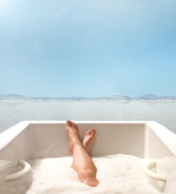 time meditate-bath